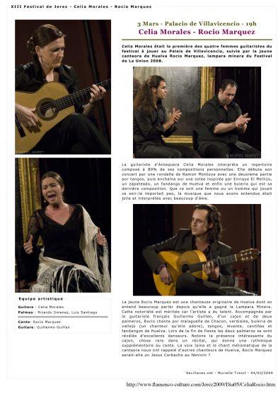 XIII Festival de Jerez - Celia Morales - Rocio Marquez