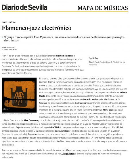 Cinco | Crítica Flamenco-jazz electrónico