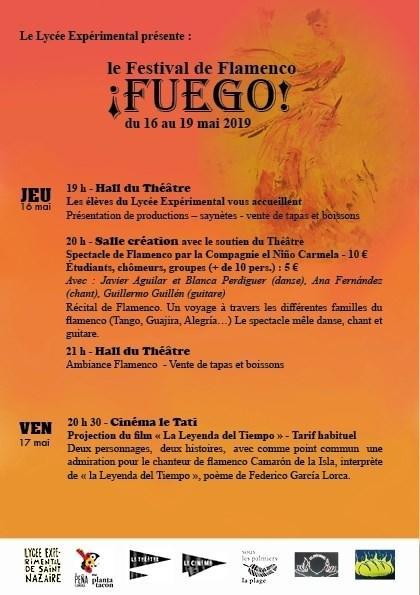 St Nazaire Festival Fuego Niño Carmela affiche