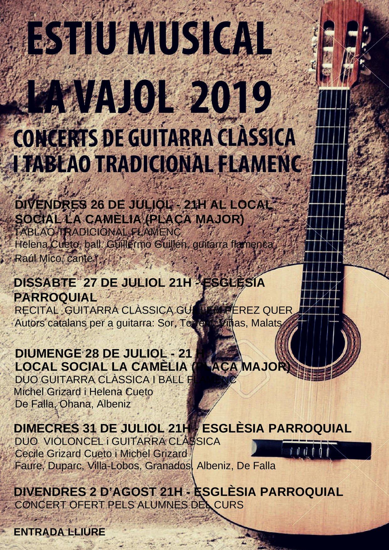 Estiu Musical La Vajol 2019 affiche