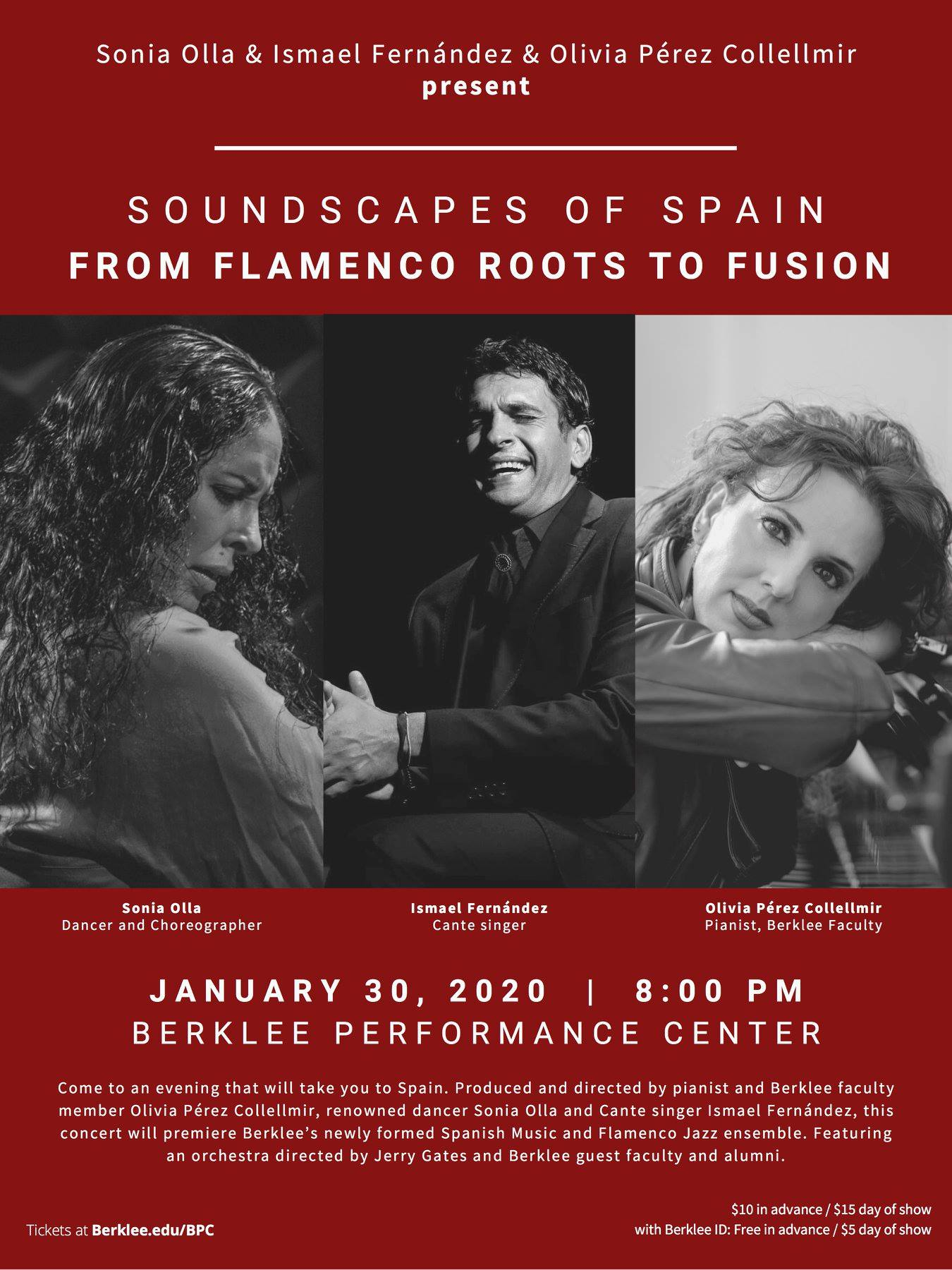 Berklee affiche Soundscapes of Spain