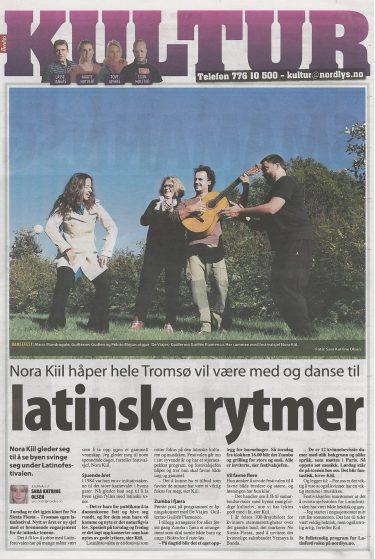 Portada Periodico Tromso Nosiesta Fiesta Festival