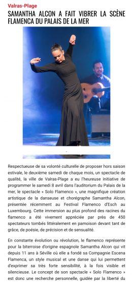 Samantha Alcon a fait vibrer la scène flamenca du Palais de la